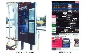 電子ペーパー搭載 次世代型バス停