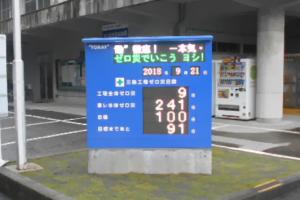 工場内無災害記録表 静岡県三島市