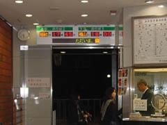 井原鉄道 井原駅 LED電光掲示板