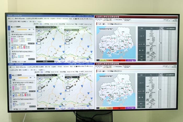 府中市役所様 危機管理室デジタルサイネージ