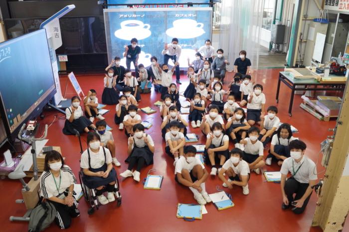 竹原小学校5年生が会社見学に来てくれました!